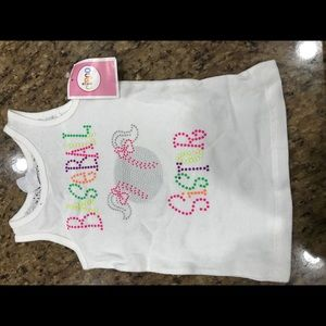 Baseball sister sleeveless shirt
